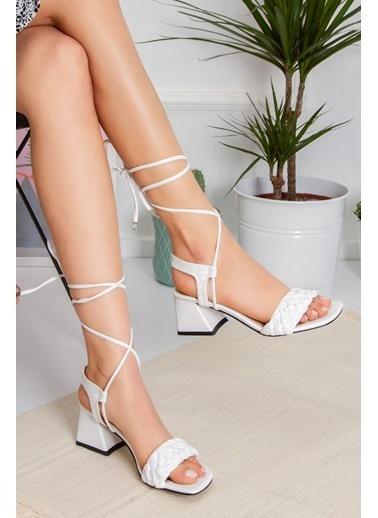 Derithy Rıgas Topuklu Ayakkabı-Ten-Byc1402 Beyaz